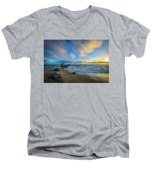 The Woman And Sea Men's V-Neck T-Shirt by Sean Foster