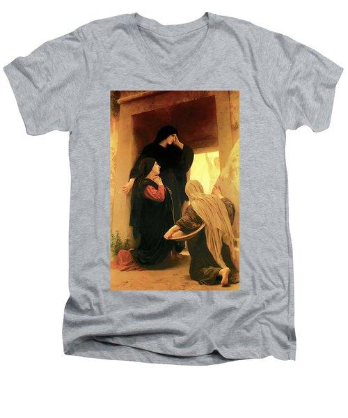 Three Marys At The Tomb Men's V-Neck T-Shirt