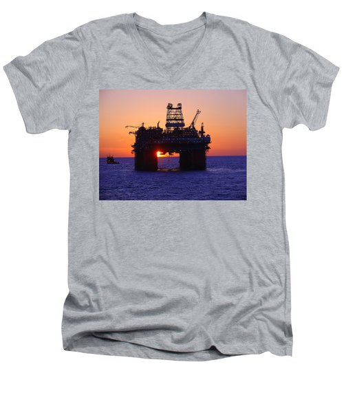 Thunder Horse At Sunset Men's V-Neck T-Shirt