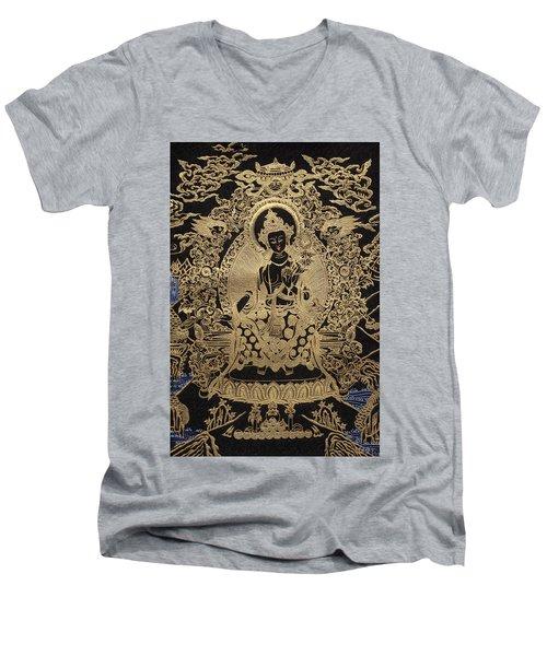 Tibetan Thangka  - Maitreya Buddha Men's V-Neck T-Shirt