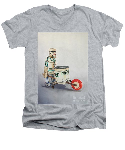 Tidy Tim Men's V-Neck T-Shirt