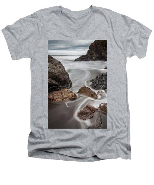 Time And Tide Men's V-Neck T-Shirt by Mark Alder