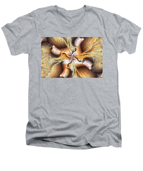 Toffee Pull Men's V-Neck T-Shirt by Jim Pavelle