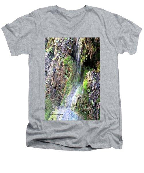 Tonto Waterfall Cave Men's V-Neck T-Shirt