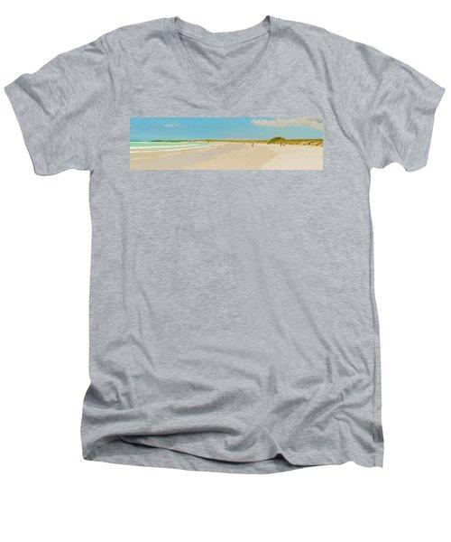 Tortuga Bay Beach At Santa Cruz Island In Galapagos  Men's V-Neck T-Shirt