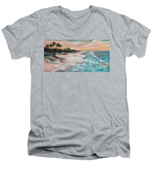 Tropical Shore Men's V-Neck T-Shirt