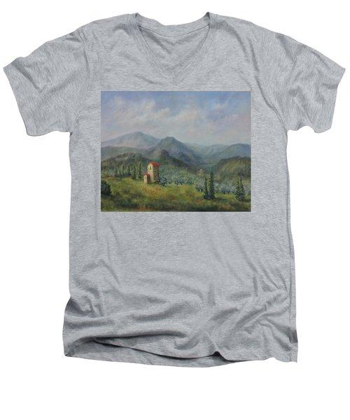 Tuscany Italy Olive Groves Men's V-Neck T-Shirt