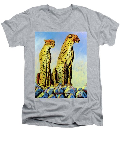 Two Cheetahs Men's V-Neck T-Shirt