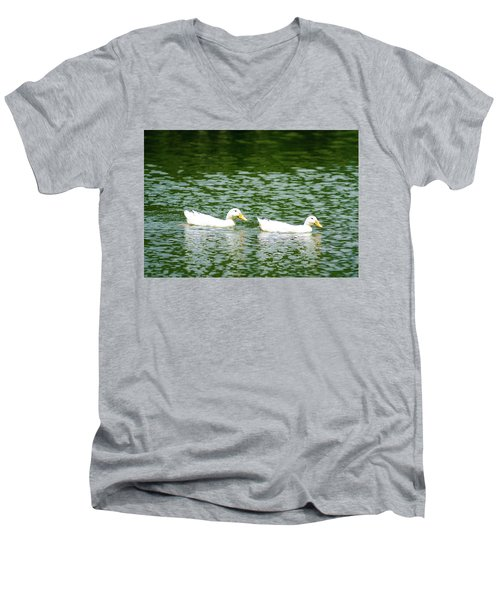 Two Ducks Men's V-Neck T-Shirt