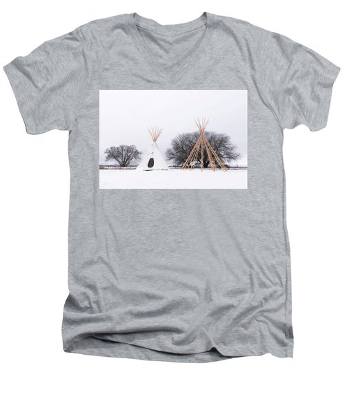 Two Tipis Men's V-Neck T-Shirt