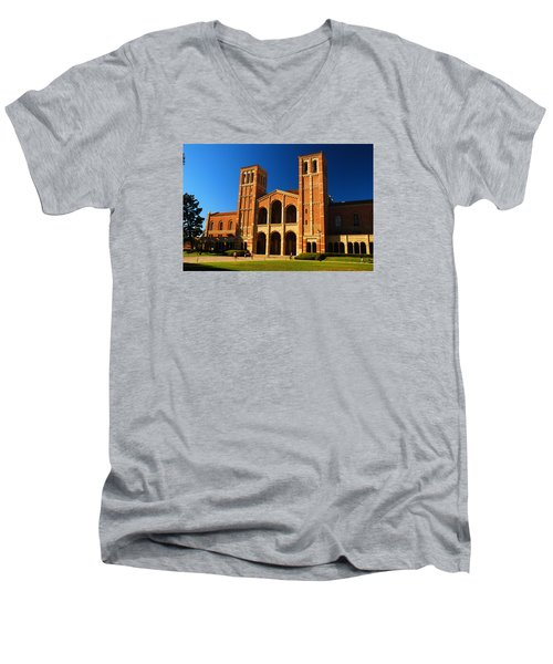 Ucla Men's V-Neck T-Shirt by James Kirkikis