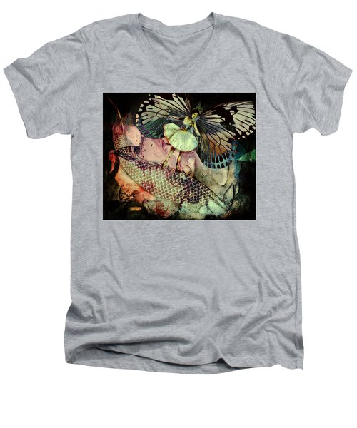 Underwater Ride Men's V-Neck T-Shirt