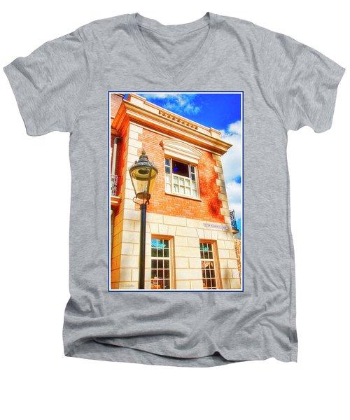 United Kingdom Pavilion, Epcot, Walt Disney World Men's V-Neck T-Shirt