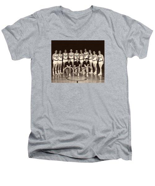 University Of Michigan Basketball Team 1960-61 Men's V-Neck T-Shirt