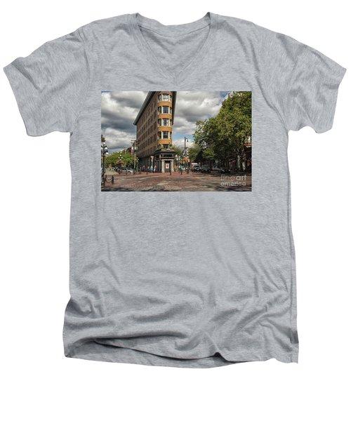 Vancouver City Life Men's V-Neck T-Shirt by Patricia Hofmeester