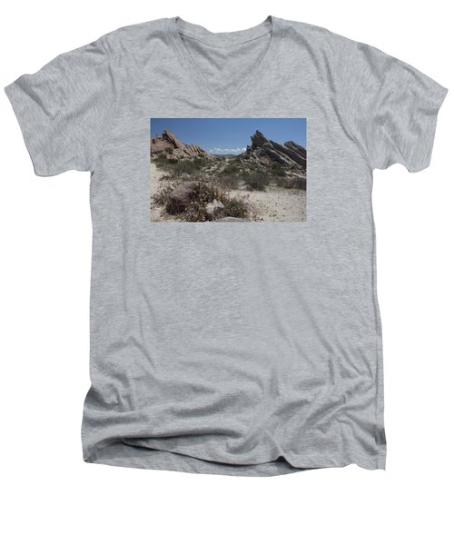 Vasquez Rocks Men's V-Neck T-Shirt by Ivete Basso Photography