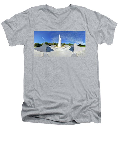 Veterans Freedom Park, Cary Nc. Men's V-Neck T-Shirt