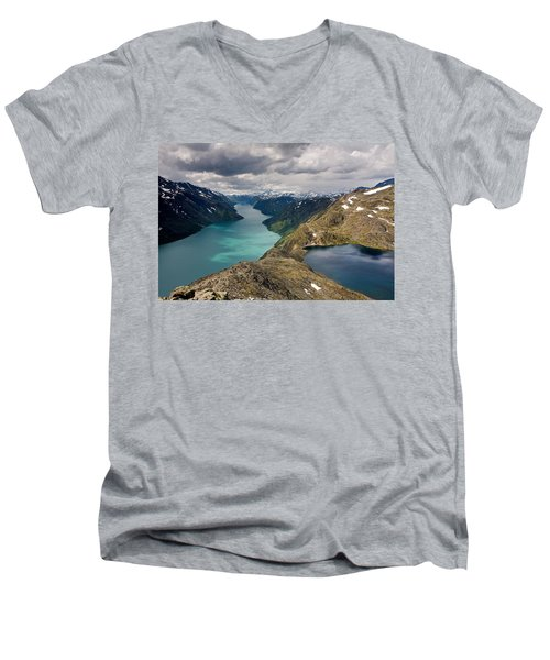 View From Bessegen Ridge Men's V-Neck T-Shirt