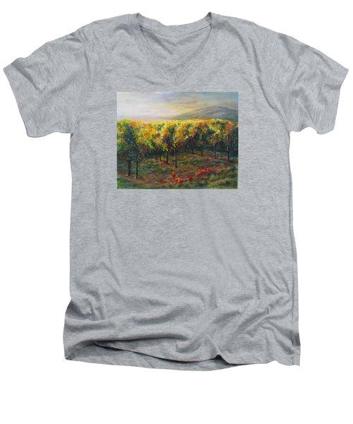 Vineyard Glow Men's V-Neck T-Shirt