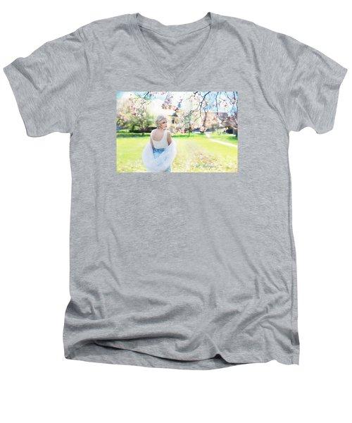 Vintage Val Magnolias Men's V-Neck T-Shirt