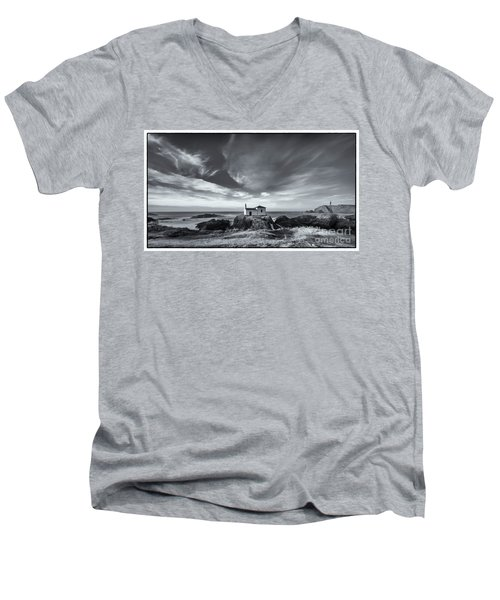 Men's V-Neck T-Shirt featuring the photograph Virxe Do Porto Meiras Galicia Spain by Pablo Avanzini