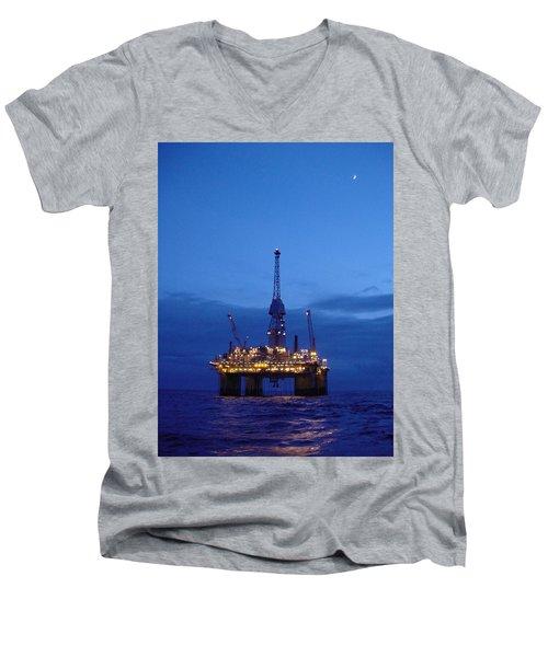 Visund In The Twilight Men's V-Neck T-Shirt