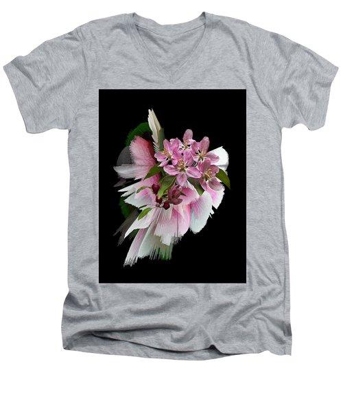 Waiting For Spring Men's V-Neck T-Shirt by Judy Johnson
