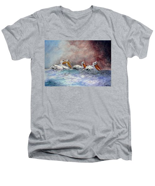 Waiting Out The Storm Men's V-Neck T-Shirt