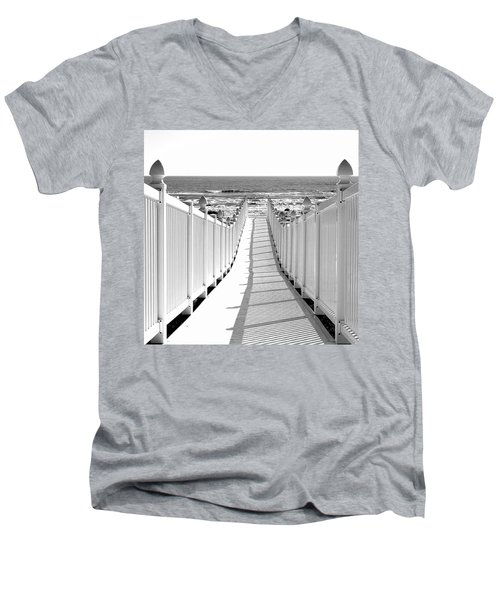 Walkway To Beach Men's V-Neck T-Shirt