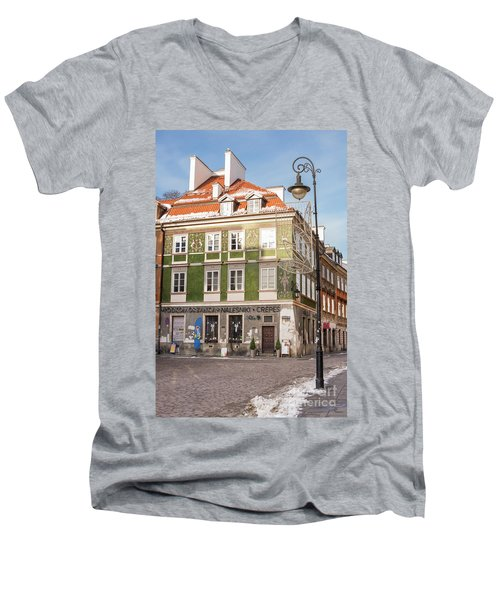 Men's V-Neck T-Shirt featuring the photograph Warsaw, Poland by Juli Scalzi