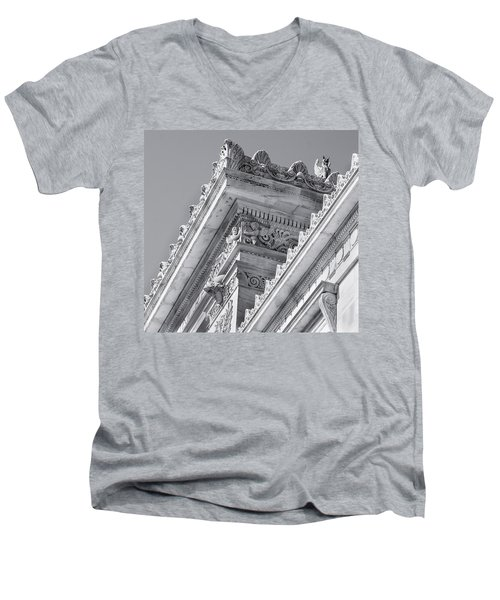 Washington Dc Architecture Men's V-Neck T-Shirt by Debbie Karnes