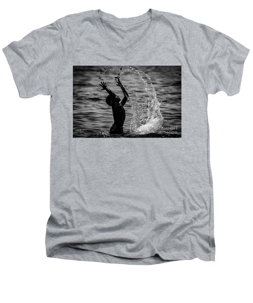 Water And Stones 3 Men's V-Neck T-Shirt