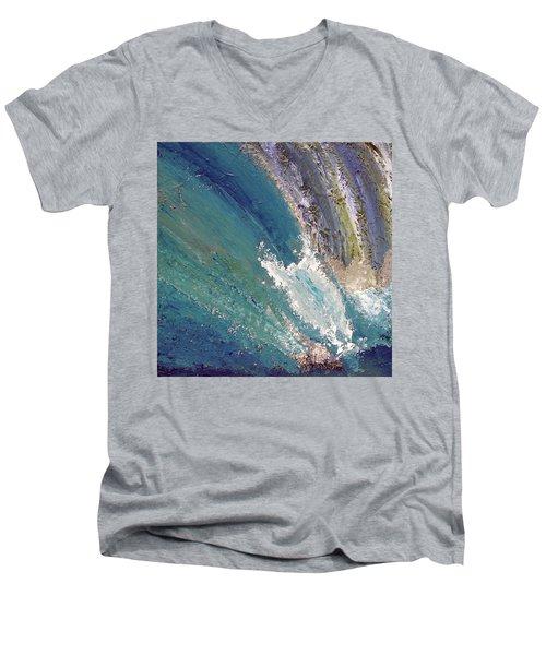 Waterfalls 2 Men's V-Neck T-Shirt by Karen Nicholson