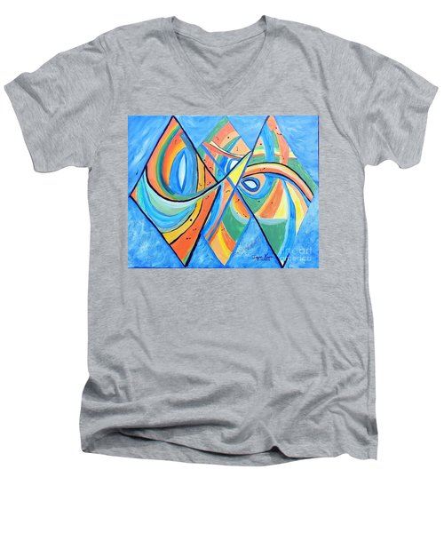 We're In This Together Men's V-Neck T-Shirt