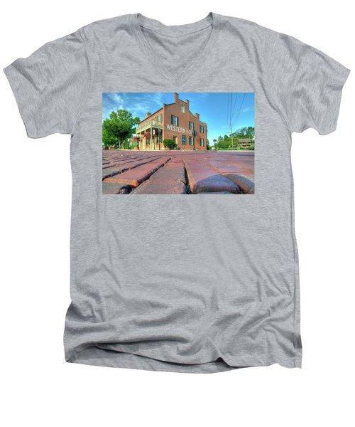Western House Men's V-Neck T-Shirt by Steve Stuller