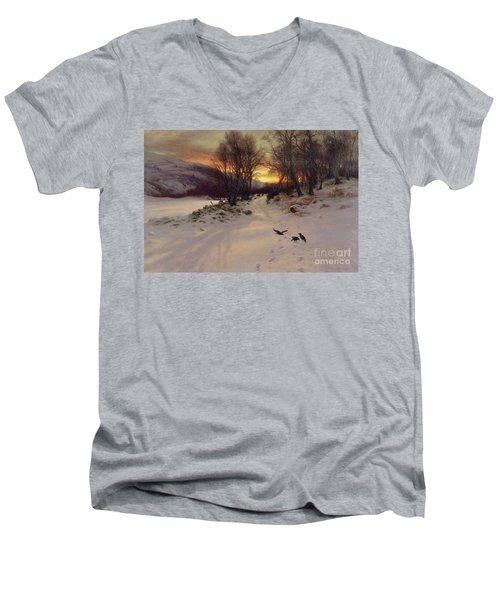 When The West With Evening Glows Men's V-Neck T-Shirt