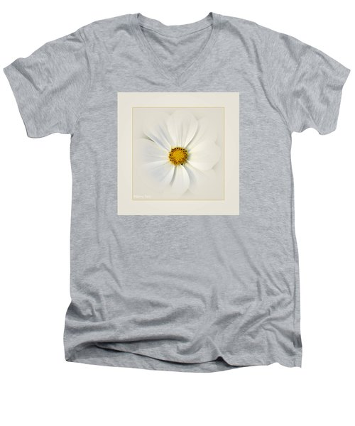 White On White Men's V-Neck T-Shirt