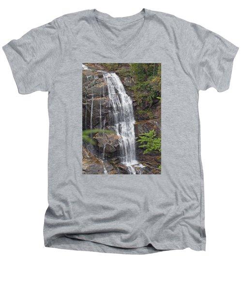 Whitewater Falls 10 Men's V-Neck T-Shirt