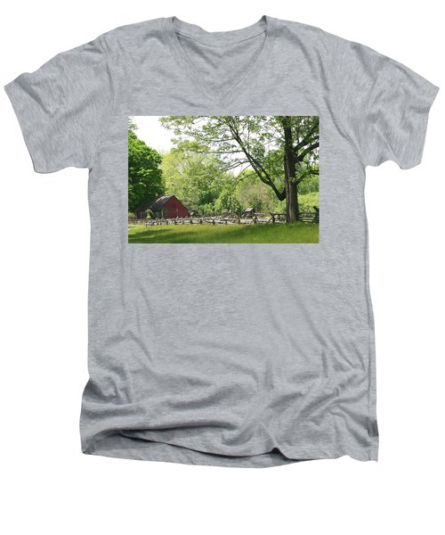 Wick Farm At Jockey Hollow Men's V-Neck T-Shirt