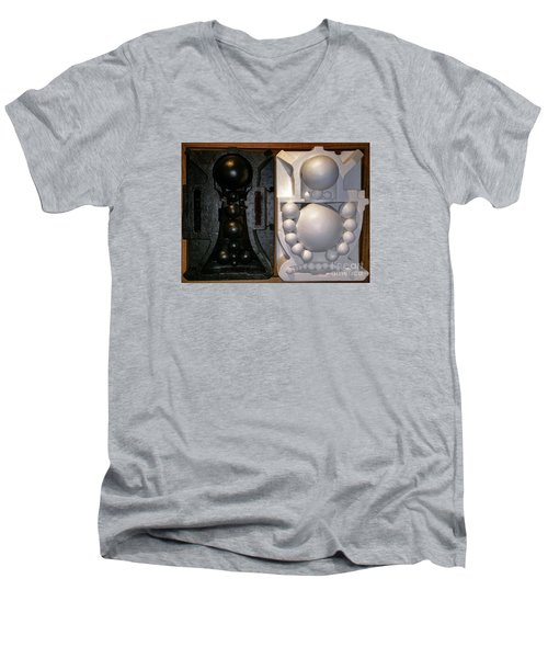 Men's V-Neck T-Shirt featuring the painting Willendorf Wedding by James Lanigan Thompson MFA