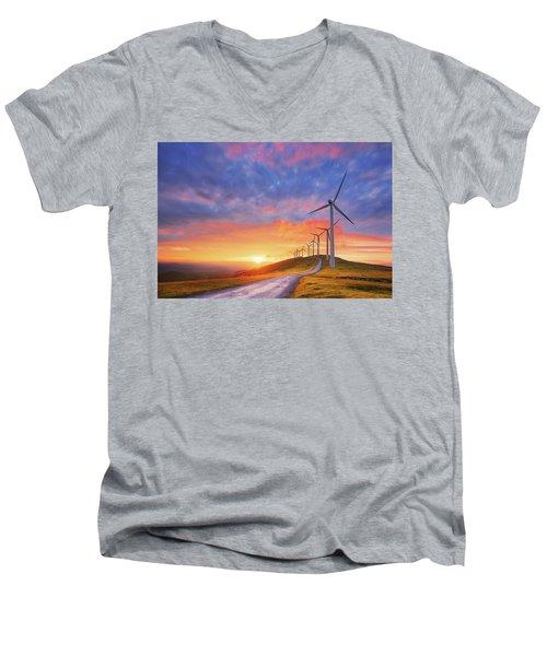 wind turbines in Oiz eolic park Men's V-Neck T-Shirt