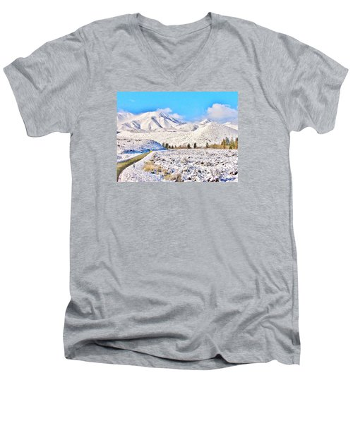 Winter Driving Men's V-Neck T-Shirt
