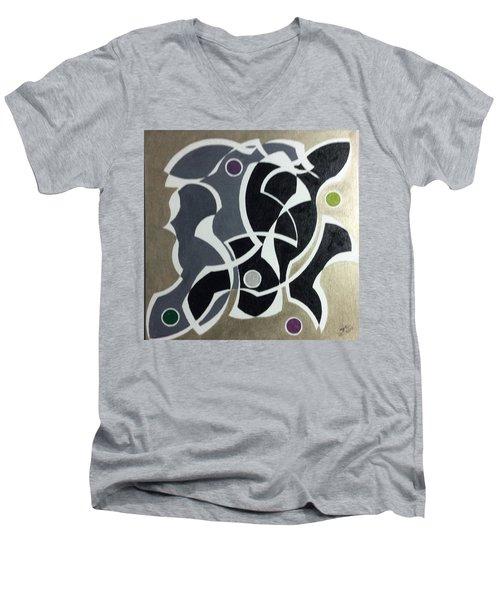 Winter Men's V-Neck T-Shirt by Hang Ho