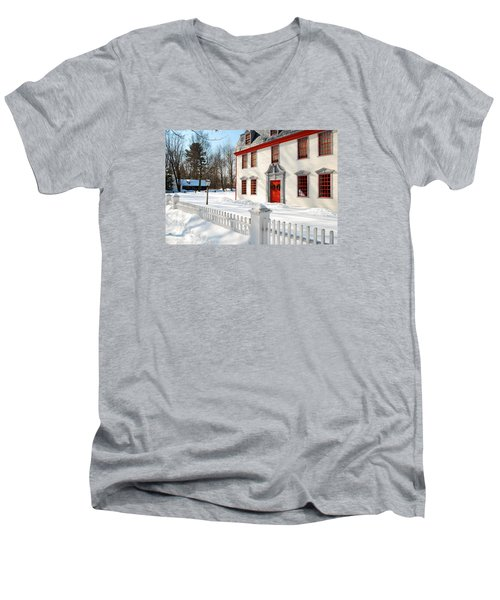 Winter In The Country Men's V-Neck T-Shirt