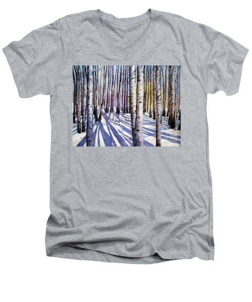 Winter Shadows Men's V-Neck T-Shirt