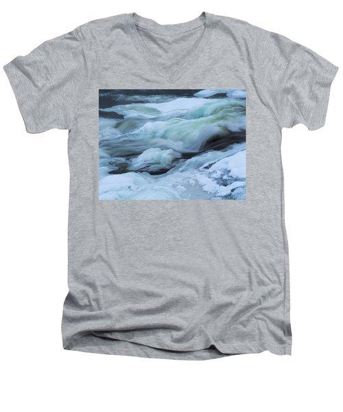 Winter Waterfall Men's V-Neck T-Shirt