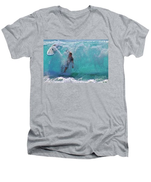 Wipe Out Men's V-Neck T-Shirt