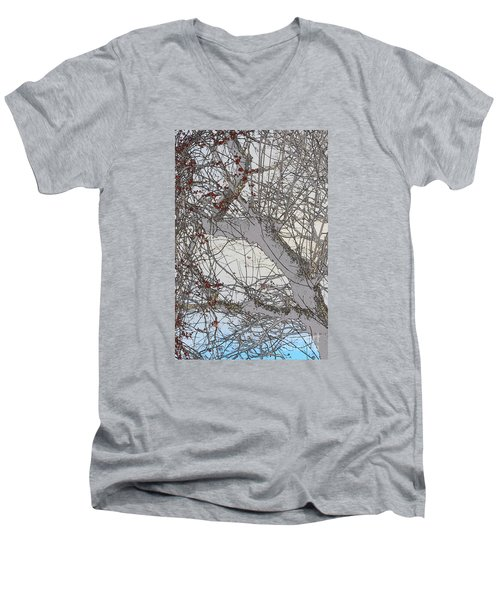 Men's V-Neck T-Shirt featuring the photograph Witness Tree by Jesse Ciazza