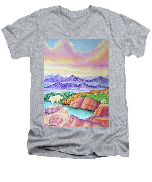 Wonderland Men's V-Neck T-Shirt by Tracy Dennison