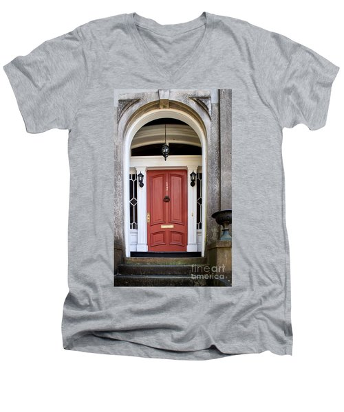 Wooden Door Savannah Men's V-Neck T-Shirt